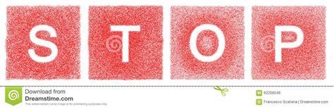 Handmade Letters - stop written with handmade letters stock illustration