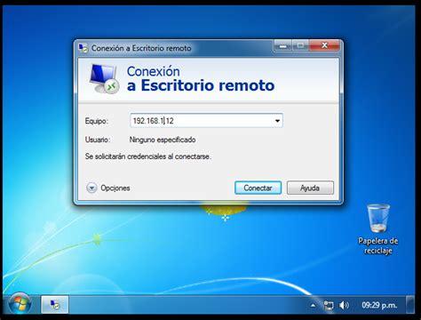 escritorio remoto windows ayuda escritorio remoto windows 7ultimate x64 taringa