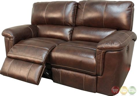 parker leather sofa parker living hitchcock cigar brown leather reclining sofa