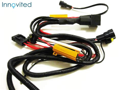 relay harness with resistors hid anti flicker load resistor relay harness h1 h8 h9 h11 9005 9006 9140 9145