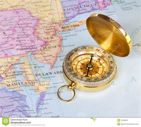 united states map with compass gold compass on map of united states royalty free stock