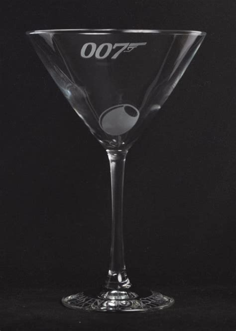 james bond martini glass etched 007 james bond martini 12oz glass by jackglass on etsy