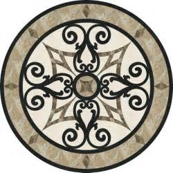 36 quot stone floor medallion waterjet cut marble and granite traditional floor medallions and