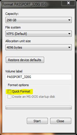 format hard drive quick vs full how to isolate bad sectors on a hard disk in windows 7