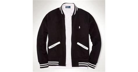 Jaket Basball Merah Putih Polos 1 lyst polo ralph mesh baseball jacket in black for