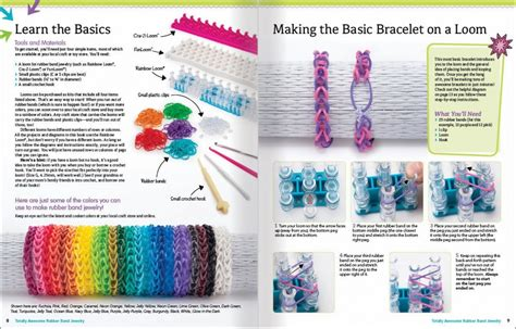 printable bandaloom instructions totally awesome rubber band jewelry by colleen dorsey