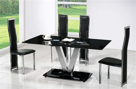 black modern dining room sets dining room sets suitable for the modern kitchen