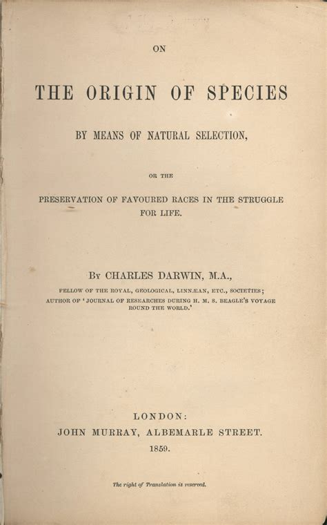 on the origin of species the preservation of favoured races in the struggle for charles darwin books on the origin of species by means of selection or