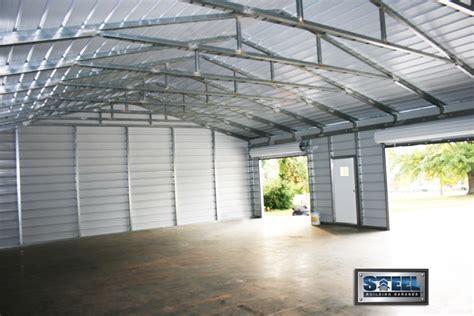 Car Garage Types by Types Of Metal Buildings Steel Building Garages