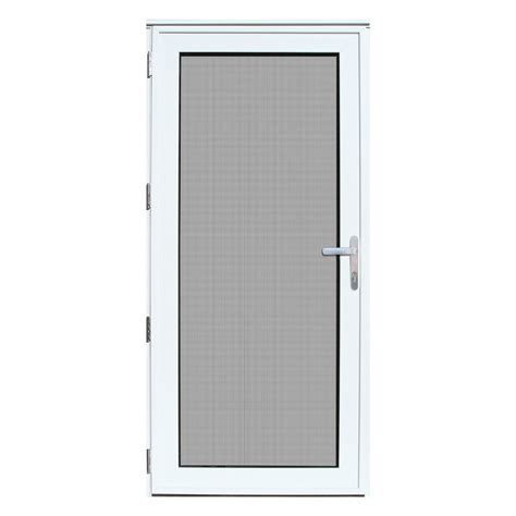 Security Exterior Door Titan Security Doors Recessed Mount Meshtec Security Door White 36 X 80 Left Outswing