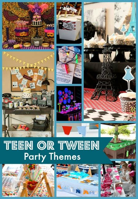 themes for teenage girl parties 10 best teen or tween party themes