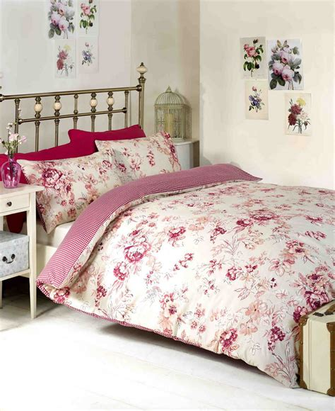 floral duvet cover in double amp kingsize flowery bed