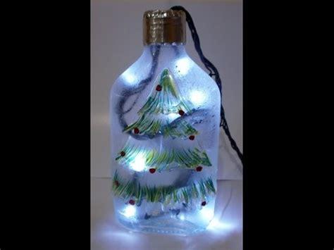 como decorar botellas de vidrio navidad diy recicla y decora botellas de vidrio navidad youtube