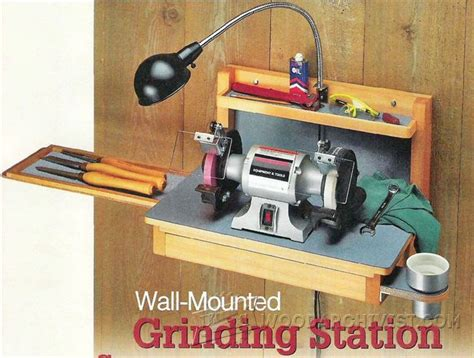 bench grinder wall mount wall mounted grinder sharpening station plans woodarchivist