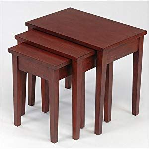 amazon nest of tables nest of tables mahogany oxford amazon co uk kitchen home
