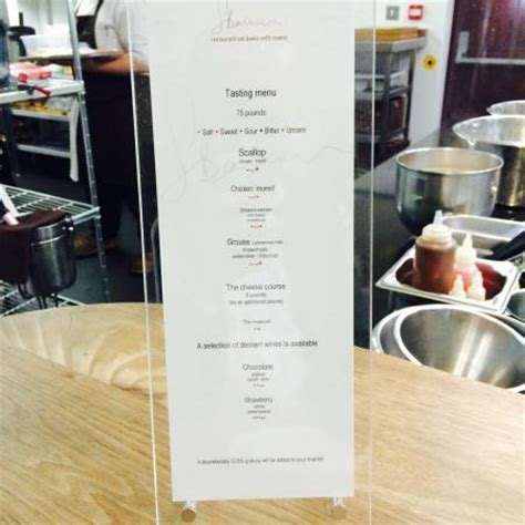 Table Restaurant Menu Chef S Table Taster Menu Picture Of Restaurant Sat