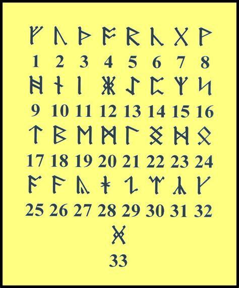 printable runic alphabet viking runic letters to numbers runes pinterest runes