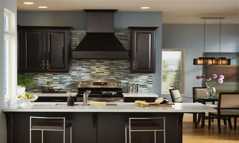 kitchen wall colors with cabinets most popular