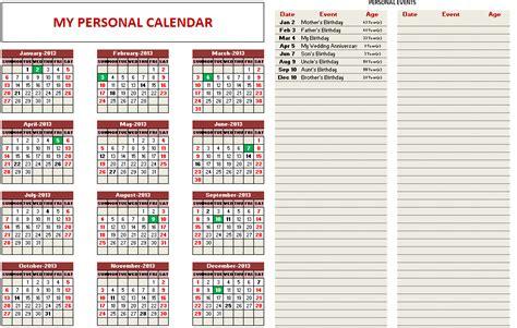 custom printable calendars excel template indzara