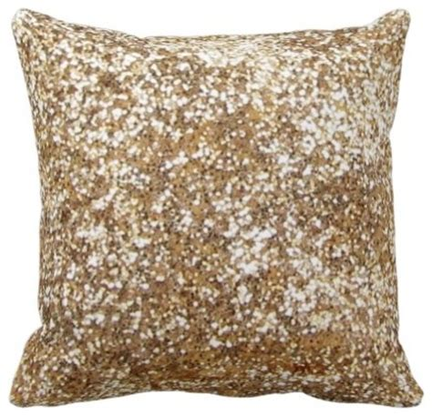 Gold Sparkle Pillow by Gold Bling Glitter Shine Throw Pillow