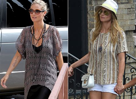 heidi klum tattoo removal heidi klum s seal removal is almost complete as