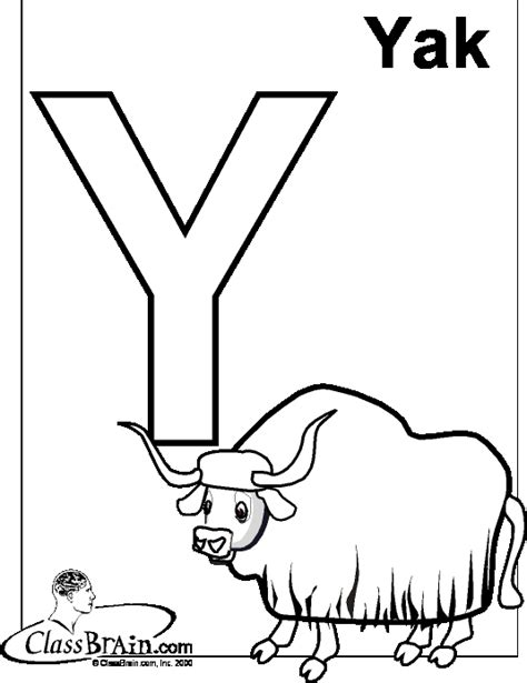 coloring page of a yak yak coloring pages