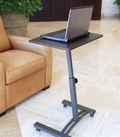 Portable Laptop Desk Stand Laptop Desk Table Cart Mobile Tray Bed Rolling Computer Stand Adjustable Portable Laptop Desk
