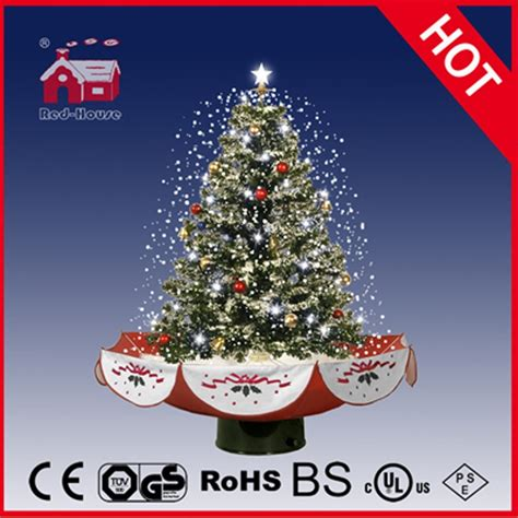 18030u075 rs snowing christmas tree with umbrella base