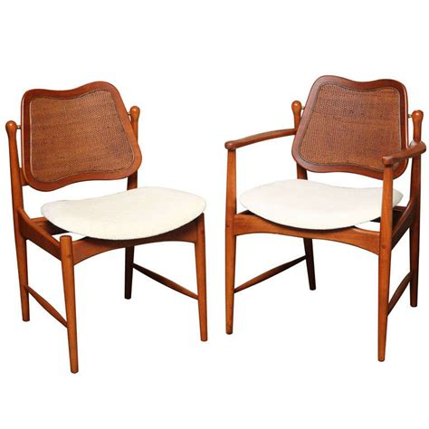 Arne Vodder Dining Chairs Six Arne Vodder Teak And Dining Chairs At 1stdibs