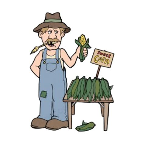 Stiker Framer Vinyl Cut farmer selling sweet corn agriculture decals decal
