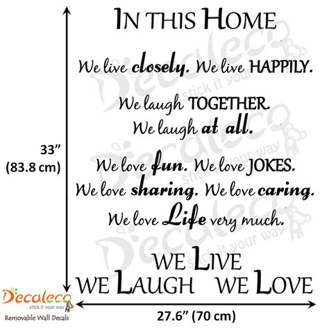 laugh love wall quote long