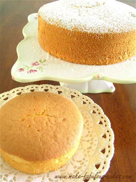 Light And Fluffy Chiffon Cake Light Cake Recipe