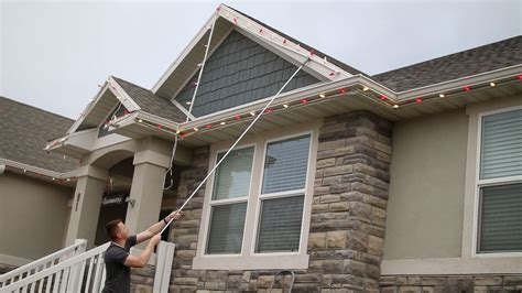 How To Hang Lights On House by The Best Way To Put Up Lights Diy Nils