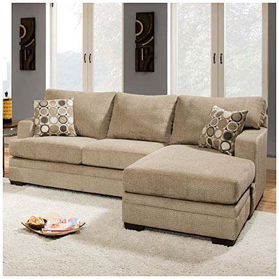 simmons 174 columbia sofa with reversible chaise at big lots living room