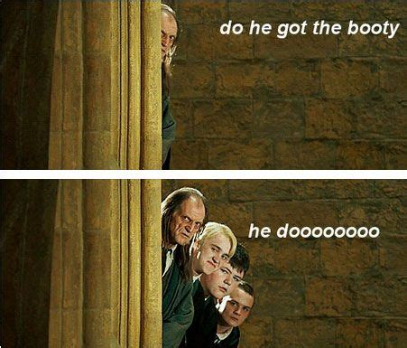Do She Got A Booty Meme - he got a booty tumblr meme harry potter nerdom