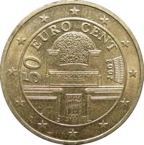 50 buro cent 50 cent 1st map austria numista