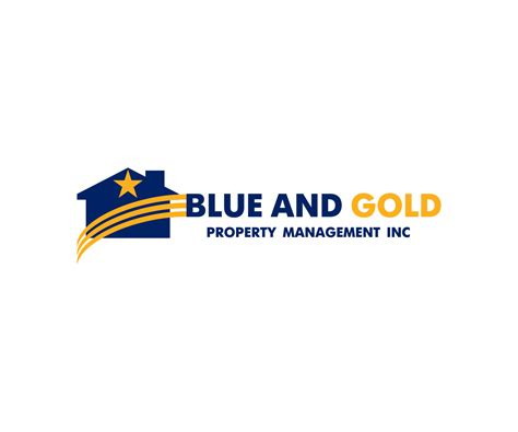blue house property management designed by masterlogo 120 serious modern real estate logo designs for blue and