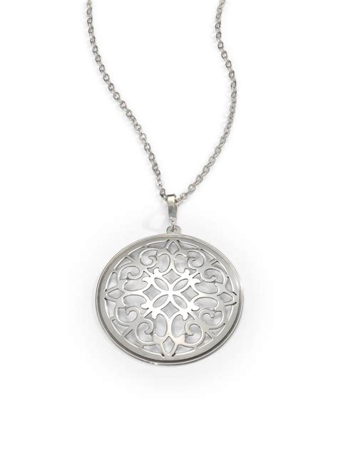 saks fifth avenue sterling silver arabesque pendant