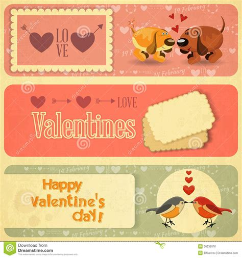 imagenes vintage san valentin vintage valentines day card stock vector illustration of