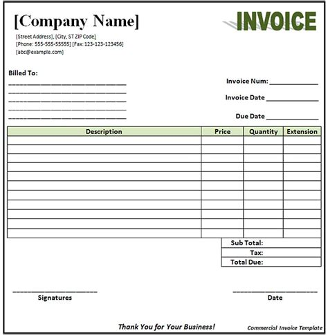 open office template invoice open office invoice template