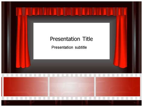 theater template cinema icons powerpoint templates cinema ppt templates