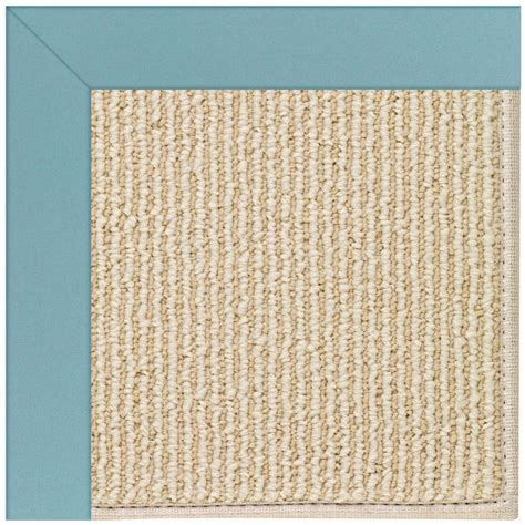 capel zoe sisal bright blue 12 ft x 15 ft area rug