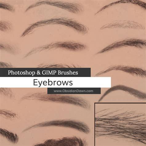 tutorial photoshop gimp eyebrows photoshop gimp brushes obsidian dawn