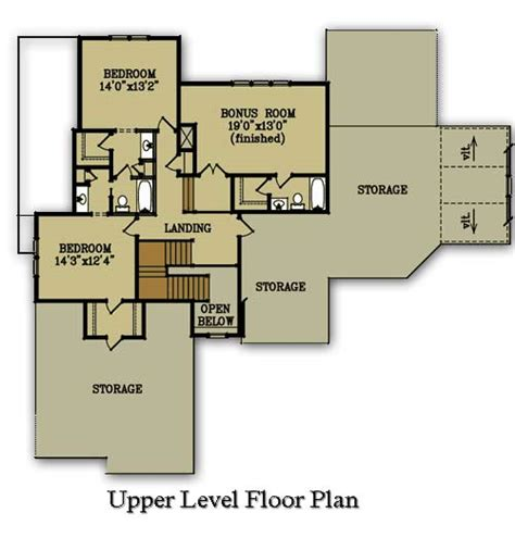 upper level floor plan of garage plan 7124 eat in kitchen home plans online house plans by max fulbright designs