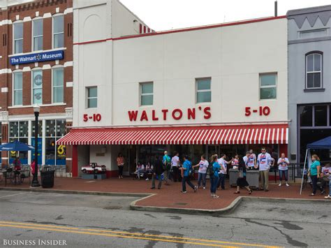 sam walton s first five and dime store in bentonville here s what it s like to attend walmart s 14 000 person