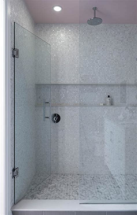 niche bathroom shower horizontal tiled shower niche design ideas
