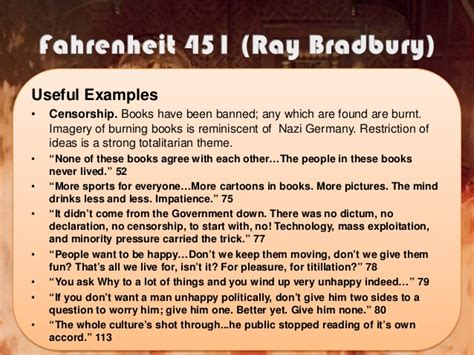 how is the theme of fahrenheit 451 related to the manner in which the conflict is resolved government quotes in fahrenheit 451 image quotes at