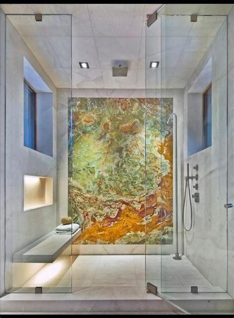 white onyx bathroom white carrara and backlit onyx shower