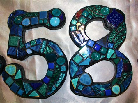 mosaic house number designs image gallery mosaic house numbers