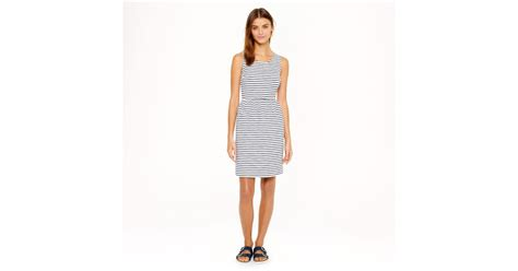 j crew stripe backzip dress in blue lyst